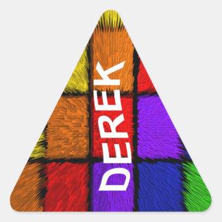 DEREK TRIANGLE STICKER