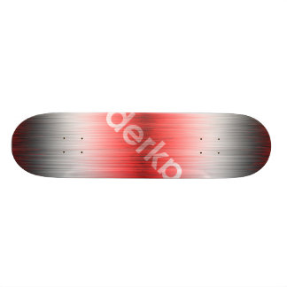 Derka Gradient Red White Black Skate Board Decks