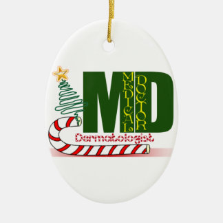 Dermatologist MERRY CHRISTMAS Ceramic Ornament