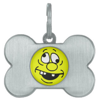 Derp Smiley Face Pet ID Tags