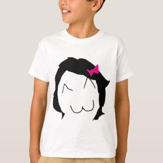 Derpina - black hair, pink ribbon - meme T-Shirt