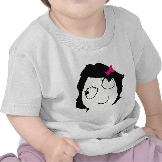 Derpina - black hair, pink ribbon tshirts