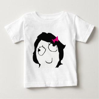 Derpina - black hair, pink ribbon tshirt