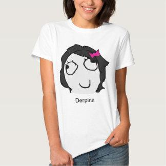 Derpina (Black) Meme Shirt