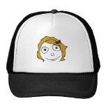 Derpina Blonde Yellow Hair Rage Face Meme Trucker Hat