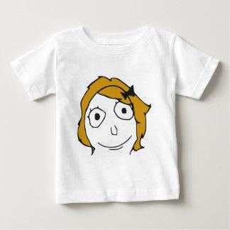 Derpina Blonde Yellow Hair Rage Face Meme T-shirt