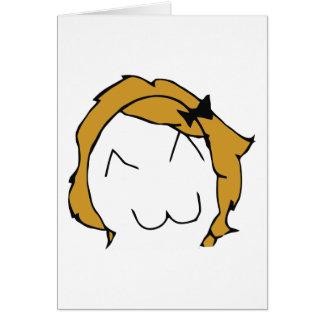 Derpina (Kitteh Smile) - Greeting Card