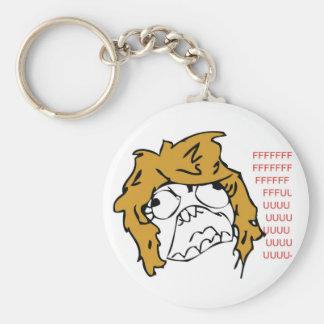Derpina Rage Troll Keychain