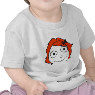 Derpina Red Hair Rage Face Meme Tees