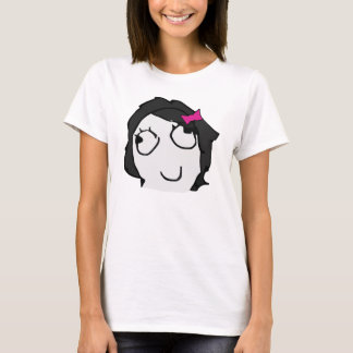 Derpina with schlick (black hair) meme shirt