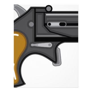 Derringer gun Vector Letterhead Design