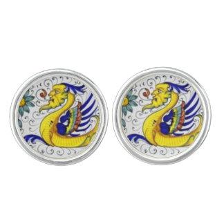 Deruta Dragons from Italy Cufflinks