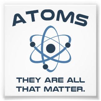 Des atomes ils sont tout ce qui importent photographie