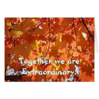Des cartes de feuille d automne ensemble nous somm