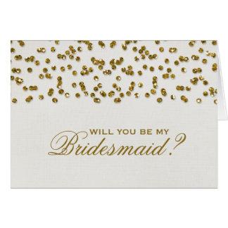 Des confettis de regard de scintillement serez-vou cartes de vœux