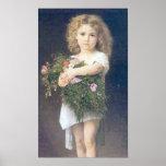 DES Fleurs de locataire de Bouguereau - d'Enfant Posters