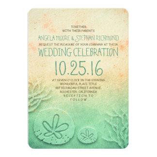 Des invitations de mariage de plage d'Ombre - Carton D'invitation 12,7 Cm X 17,78 Cm