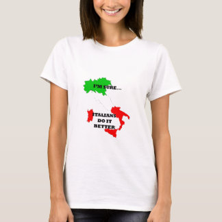 des Italiens il améliorent T-shirt