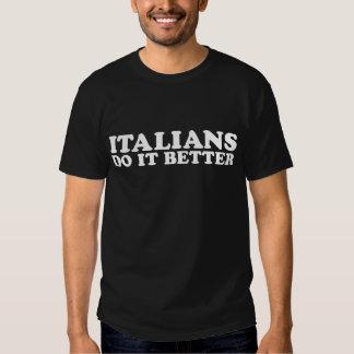 Des Italiens il améliorent T Shirts