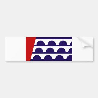 des moines city flag united state america iowa bumper sticker