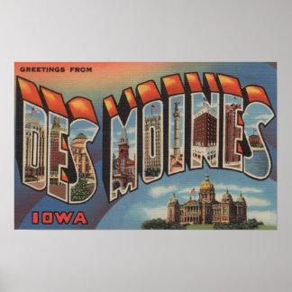Des Moines, Iowa (bâtiment capital) Posters