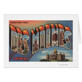 Des Moines, Iowa (bâtiment capital) Carte De Vœux