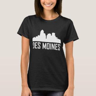 Des Moines Iowa City Skyline T-Shirt