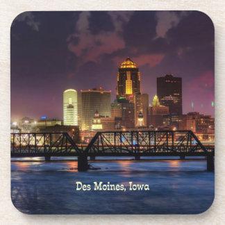 Des Moines, Iowa cityscape Coaster