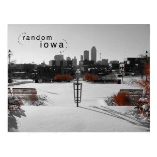 Des Moines Iowa Color Splash Postcard