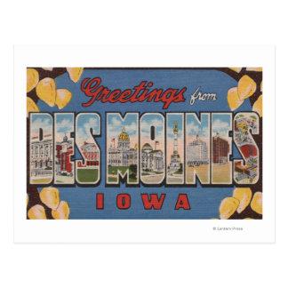 Des Moines, Iowa - grandes scènes 2 de lettre Cartes Postales