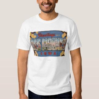 Des Moines, Iowa - grandes scènes 2 de lettre T Shirt