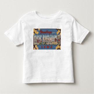 Des Moines, Iowa - grandes scènes 2 de lettre T-shirt Pour Les Tous Petits