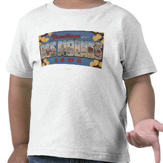 Des Moines, Iowa - grandes scènes 2 de lettre T-shirt