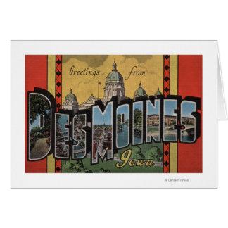Des Moines, Iowa - grandes scènes de lettre Carte De Vœux