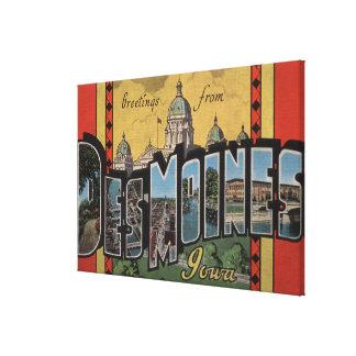 Des Moines, Iowa - grandes scènes de lettre Toiles