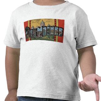Des Moines, Iowa - grandes scènes de lettre T-shirts