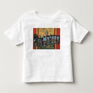 Des Moines, Iowa - grandes scènes de lettre T Shirt