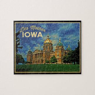 Des Moines Iowa Jigsaw Puzzle