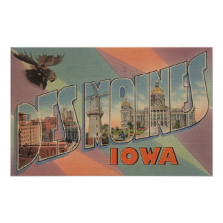 Des Moines, Iowa (tête d'orignaux) Posters