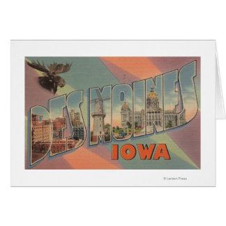 Des Moines, Iowa (tête d'orignaux) Carte De Vœux