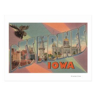 Des Moines, Iowa (tête d'orignaux) Cartes Postales