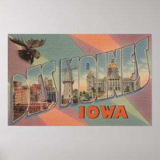 Des Moines, Iowa (tête d'orignaux) Poster