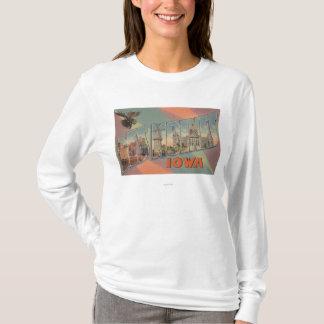 Des Moines, Iowa (tête d'orignaux) T-shirt