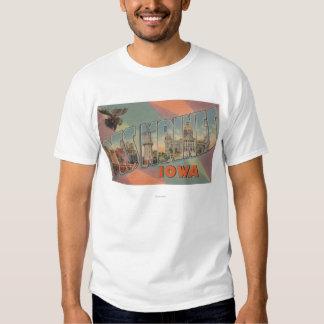 Des Moines, Iowa (tête d'orignaux) T-shirts