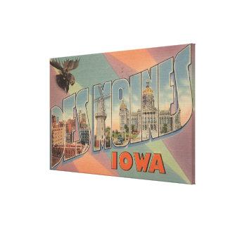 Des Moines, Iowa (tête d'orignaux) Toiles Tendues Sur Châssis
