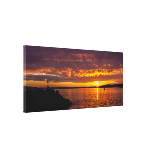 Des Moines Marina sunset Canvas Print