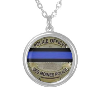 Des Moines Police Silver Plated Necklace