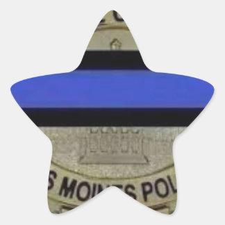 Des Moines Police Star Sticker