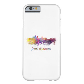 DES Moines skyline in watercolor Barely There iPhone 6 Case