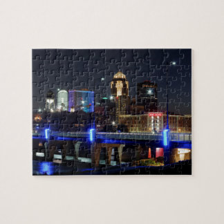 Des Moines Skyline With Orlando Tribute Jigsaw Puzzle